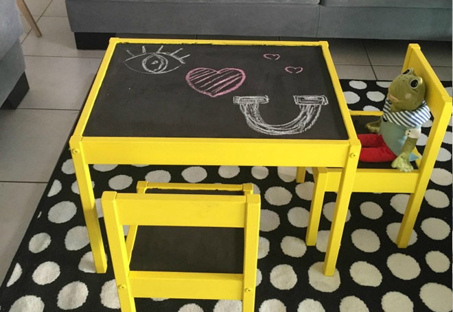 Ikea Latt Hack Chalkboard Yellow
