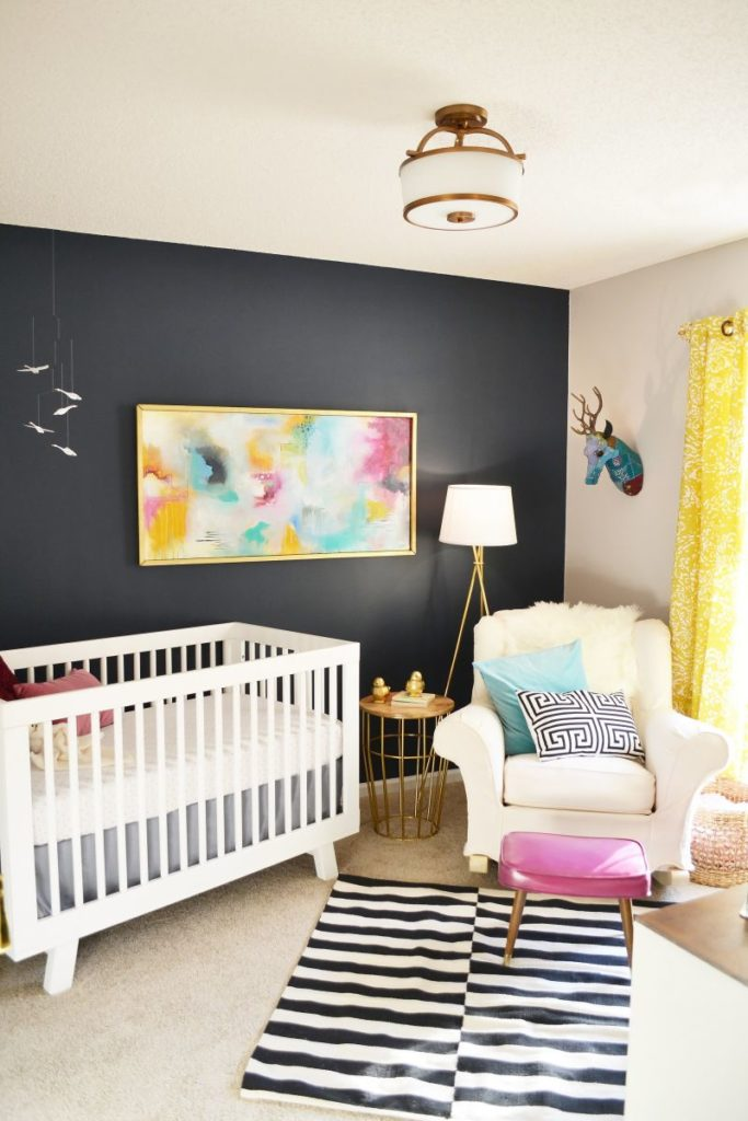 Surprising Nursery Decor Ideas Using Only Leftover Paint