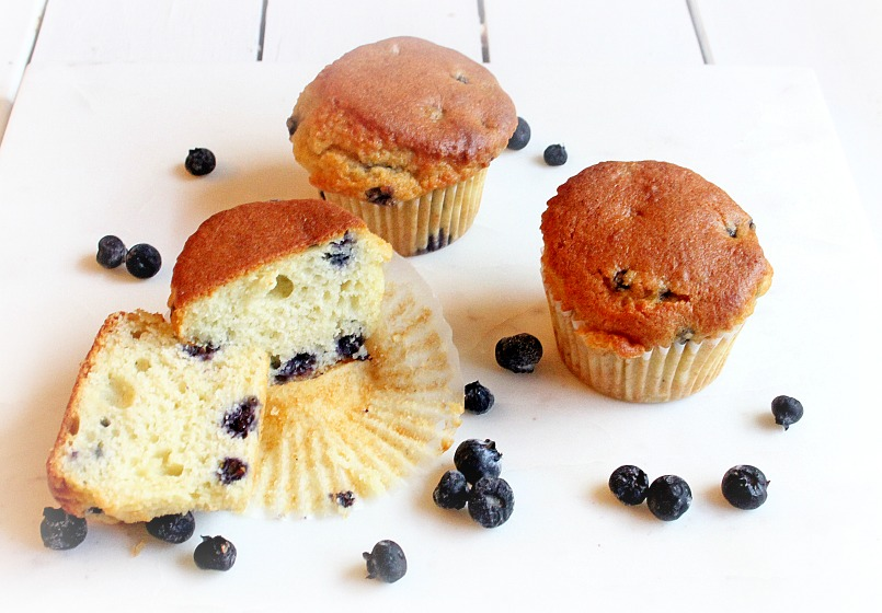 Low Carb Easy Gluten-Free Blueberry Muffins